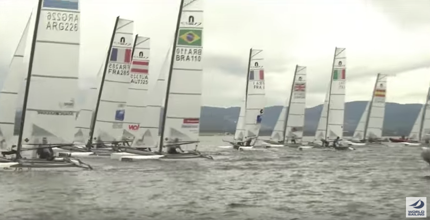TV commentary at Sailing World Cup Hyères